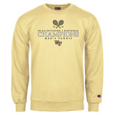 Champion Vegas Gold Fleece Crew-2018 Mens Tennis Champions