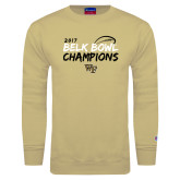 Champion Vegas Gold Fleece Crew-2017 Belk Bowl Champions - Brush Script