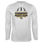 Performance White Longsleeve Shirt-2017 Belk Bowl Champions - Football Stacked