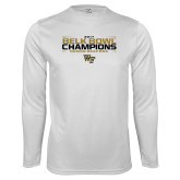Performance White Longsleeve Shirt-2017 Belk Bowl Champions - Stacked Bars