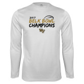 Performance White Longsleeve Shirt-2017 Belk Bowl Champions - Brush Script
