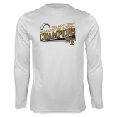 Performance White Longsleeve Shirt-2018 Mens Tennis Champions