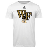 Adidas Climalite White Ultimate Performance Tee-WF w/ Deacon Head