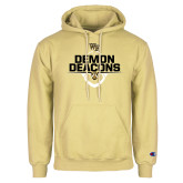 Champion Vegas Gold Fleece Hoodie-Stacked Football Design