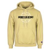 Champion Vegas Gold Fleece Hoodie-Basketball Outline Design