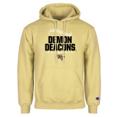 Champion Vegas Gold Fleece Hoodie-Baseball Stiches Design
