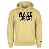 Champion Vegas Gold Fleece Hoodie-Wake Forest University Stacked