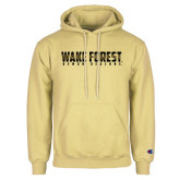 Champion Vegas Gold Fleece Hoodie-Wake Forest Wordmark Design