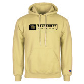Champion Vegas Gold Fleece Hoodie-Wake Forest Bar Design