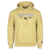 Champion Vegas Gold Fleece Hoodie-Arched Wake Forest Est. 1834