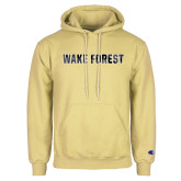 Champion Vegas Gold Fleece Hoodie-Wake Forest Polygon Texture