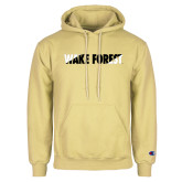 Champion Vegas Gold Fleece Hoodie-Diagonal Two Tone Wake Forest