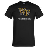 Black T Shirt-Field Hockey