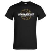 Black T Shirt-Basketball Outline Design