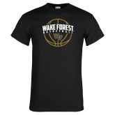 Black T Shirt-Arched Wake Forest in Basketball