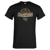 Black T Shirt-2017 Mens Soccer Champions