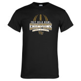 Black T Shirt-2017 Belk Bowl Champions - Football Stacked