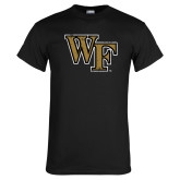 Black T Shirt-WF Distressed