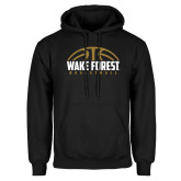 Black Fleece Hoodie-Arched Basketball Design