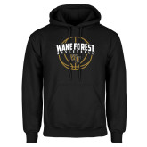 Black Fleece Hoodie-Arched Wake Forest in Basketball