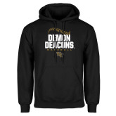 Black Fleece Hoodie-Baseball Stiches Design