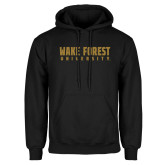 Black Fleece Hoodie-Wake Forest University