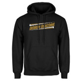 Black Fleece Hoodie-Slanted Wake Forest Demon Deacons