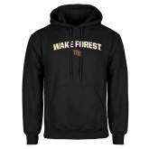 Black Fleece Hoodie-Arched Wake Forest w/ WF