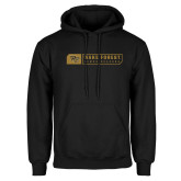 Black Fleece Hoodie-Wake Forest Bar Design