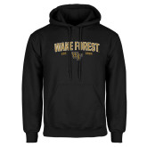 Black Fleece Hoodie-Arched Wake Forest Est. 1834