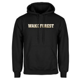 Black Fleece Hoodie-Wake Forest Splatter Texture