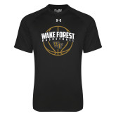Under Armour Black Tech Tee-Arched Wake Forest in Basketball