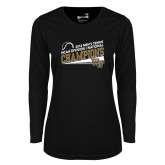 Ladies Syntrel Performance Black Longsleeve Shirt-2018 Mens Tennis Champions