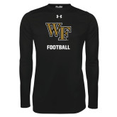 Under Armour Black Long Sleeve Tech Tee-WF Football