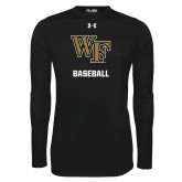 Under Armour Black Long Sleeve Tech Tee-WF Baseball