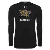 Under Armour Black Long Sleeve Tech Tee-WF Baseball