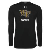 Under Armour Black Long Sleeve Tech Tee-WF Soccer