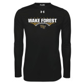 Under Armour Black Long Sleeve Tech Tee-Football Wing Design