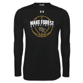 Under Armour Black Long Sleeve Tech Tee-Arched Wake Forest in Basketball