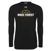 Under Armour Black Long Sleeve Tech Tee-Soccer Outline Design