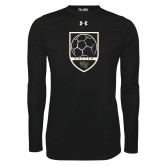 Under Armour Black Long Sleeve Tech Tee-Soccer Shield Design