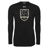 Under Armour Black Long Sleeve Tech Tee-Soccer Shield Design