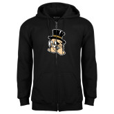 Black Fleece Full Zip Hoodie-Deacon Head