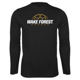 Syntrel Performance Black Longsleeve Shirt-Soccer Outline Design