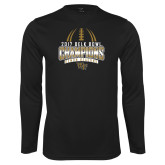 Syntrel Performance Black Longsleeve Shirt-2017 Belk Bowl Champions - Football Stacked