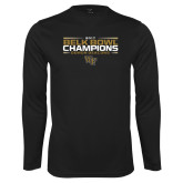 Performance Black Longsleeve Shirt-2017 Belk Bowl Champions - Stacked Bars