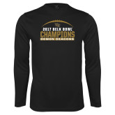 Performance Black Longsleeve Shirt-2017 Belk Bowl Champions - Football Arched