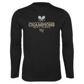 Performance Black Longsleeve Shirt-2018 Mens Tennis Champions