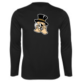 Performance Black Longsleeve Shirt-Deacon Head