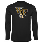 Performance Black Longsleeve Shirt-WF w/ Deacon Head